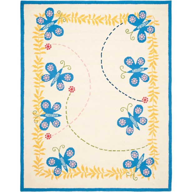 Claro Butterfly Area Rug Rug Size: Rectangle 3' x 5'