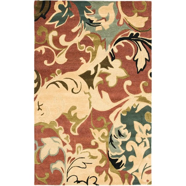 Colette Rust / Multi Contemporary Rug Rug Size: Rectangle 7'6