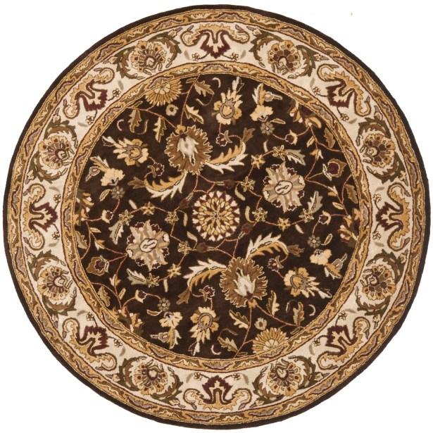Royalty Chocolate/Beige Rug Rug Size: Rectangle 4' x 6'
