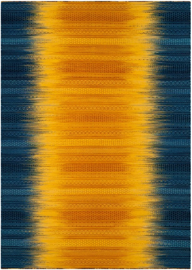 Sojourn Hand-Woven Dark Blue/Yellow Area Rug Rug Size: Rectangle 5' x 8'