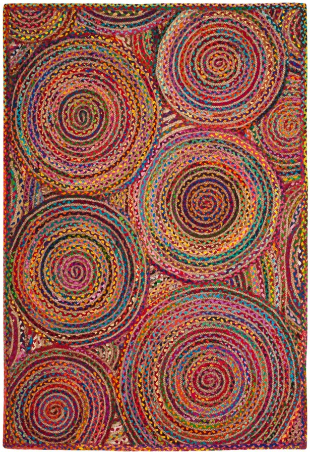 Bowen Hand-Woven Red/Yellow/Puple Area Rug Rug Size: Rectangle 8' x 10'
