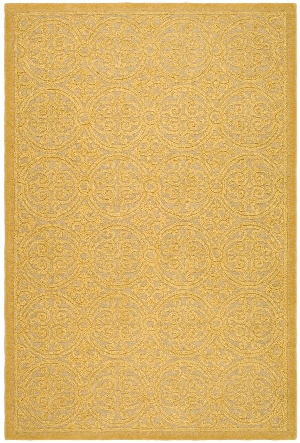 Cambridge Hand-Tufted Wool Gold Area Rug Rug Size: Rectangle 6' x 9'