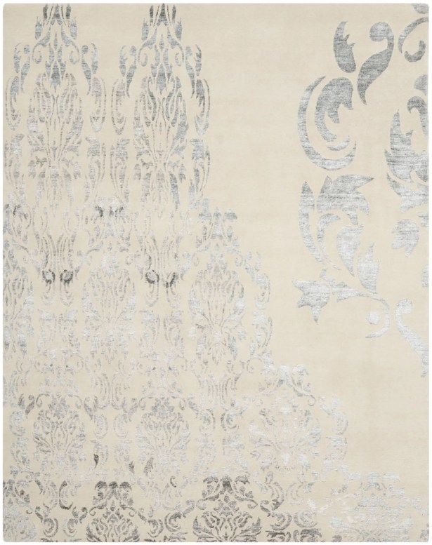 Leet Tibetan Hand Knotted Beige/Gray Area Rug Rug Size: Rectangle 9' x 12'