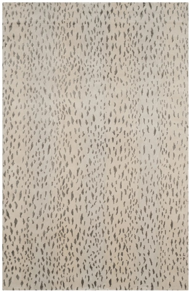 Honora Tibetan Hand Knotted Silver Area Rug Rug Size: Rectangle 8' x 10'