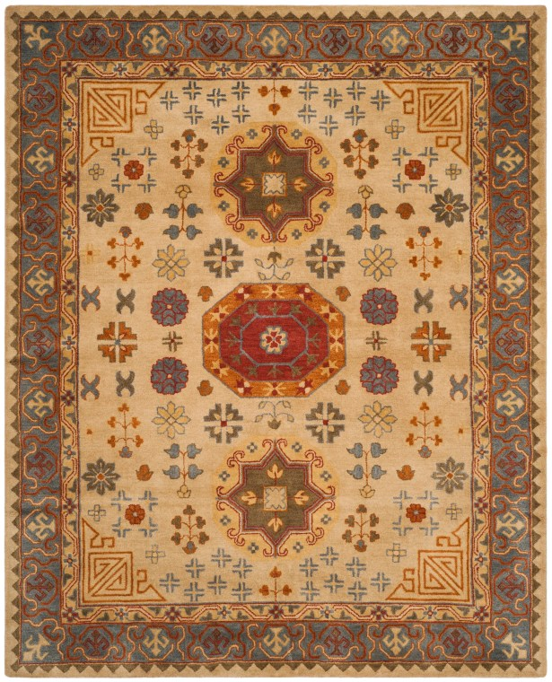 Cranmore Hand-Tufted Beige/Brown Area Rug Rug Size: Square 6'