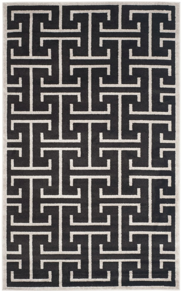 Fehi Black Area Rug Rug Size: Rectangle 5' x 8'