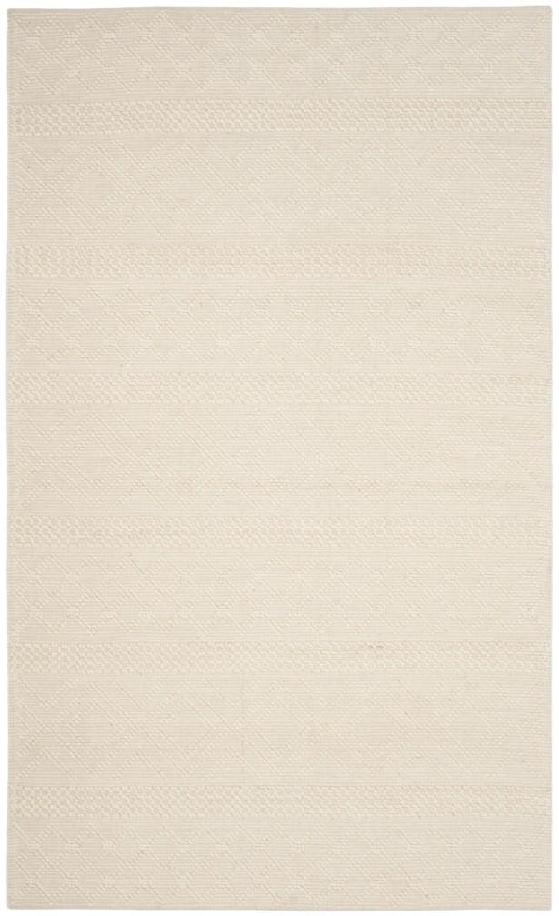 Xamiera Hand Tufted Wool Ivory Geometric Area Rug Rug Size: Rectangle 6' x 9'