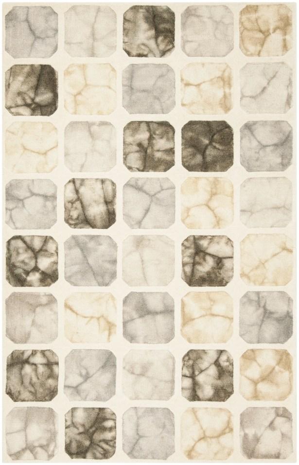 Corydon Hand Tufted Wool Gray/Ivory Geometric Area Rug Rug Size: Rectangle 3' x 5'