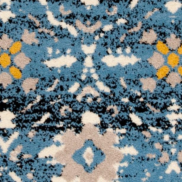 Dalrymple Blue/Cream Area Rug Rug Size: Rectangle 5'1