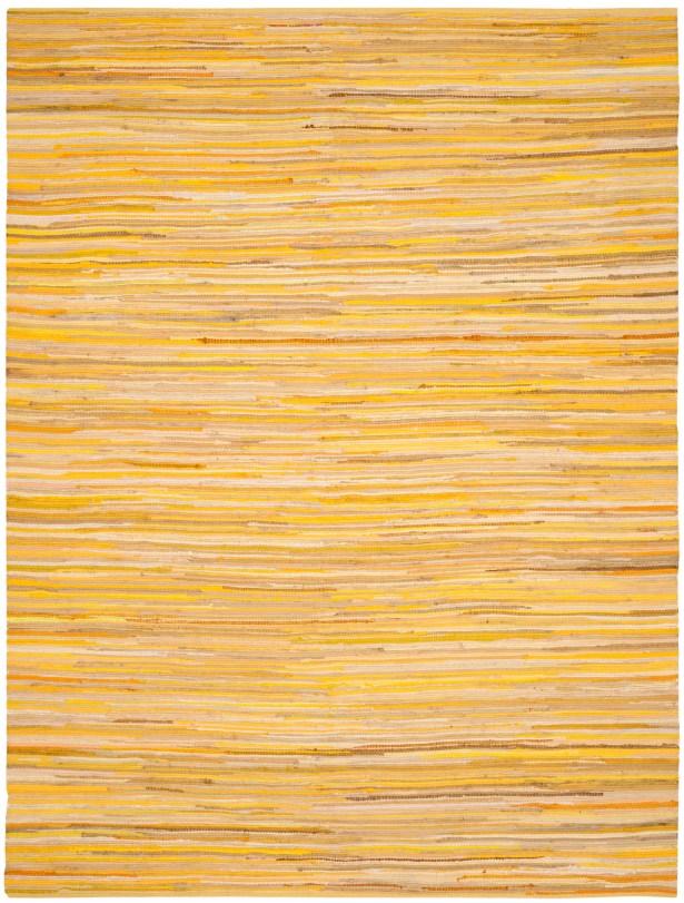 Hand-Woven Yellow Area Rug Rug Size: Rectangle 9' x 12'