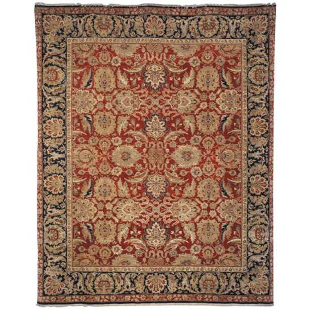 Old World Red/Navy Agra Rug Rug Size: 6' x 9' Rectangle
