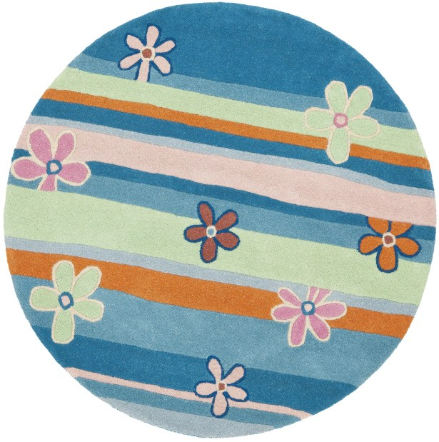 Claro Striped Blue / Multi Rug Size: Rectangle 6' x 9'