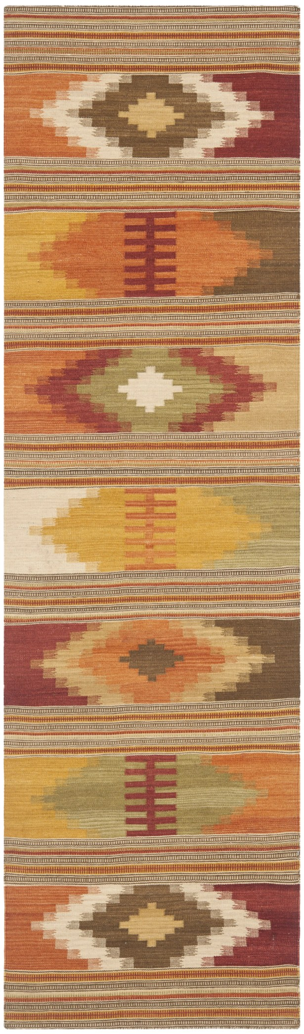 Vacaville Hand Woven Wool Red/Orange Area Rug Rug Size: Runner 2'3