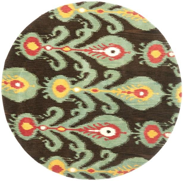Ikat Hand-Woven Wool Area Rug Rug Size: Rectangle 6' x 9'