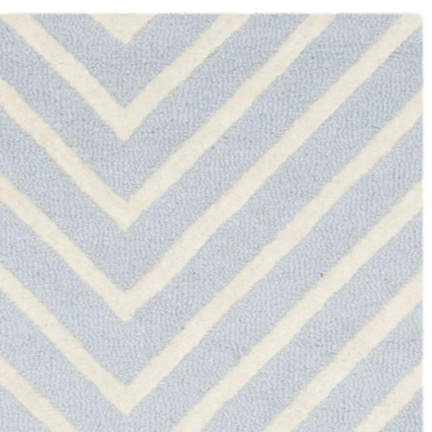 Weybridge Hand Woven Wool Light Blue/Ivory Area Rug Rug Size: Square 8'