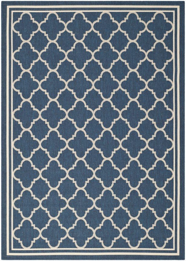 Critchlow Navy Outdoor Area Rug Rug Size: Rectangle 9' x 12'