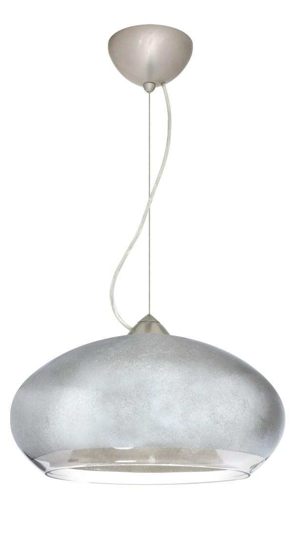 Brio 1-Light Globe Pendant Finish: Satin Nickel, Shade Color: Silver Foil