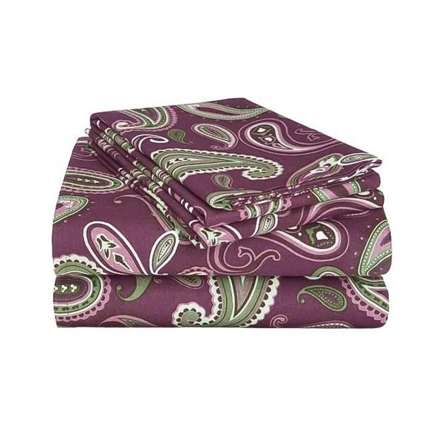 Gunnora 100% Cotton Sheet Set Color: Purple, Size: Twin XL