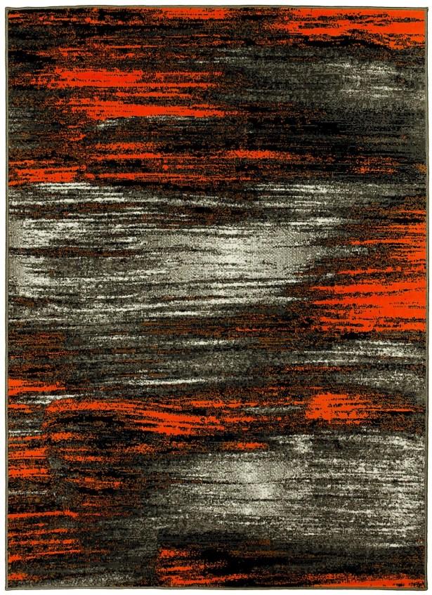 Abstract Orange/Gray Area Rug Rug Size: 8' x 10'