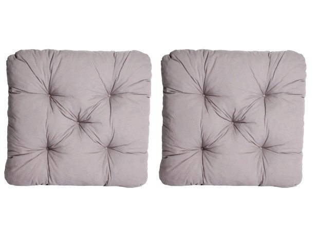 Indoor/Outdoor/Indoor Furniture Alma Seat Cushion (Set of 2) Fabric: Gray