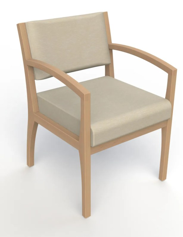 Itasca Wall Guard Back Leg Guest Chair Finish: Fawn, Arm Options: Straight, Seat Color: Script Linen