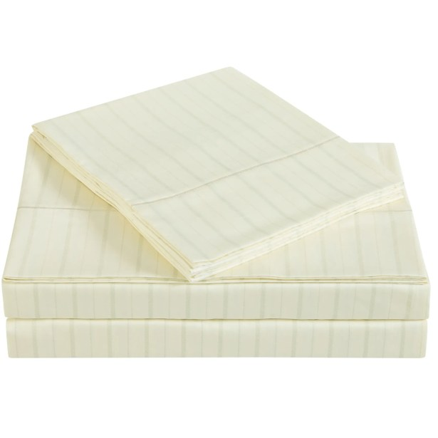 Classic 310 Thread Count Cotton Sheet Set Color: Sweet Corn, Size: King