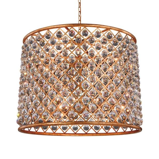 Lulsgate 12-Light Chandelier Shade Color: Golden, Bulb Type: Incandescent, Finish: Polished Nickel