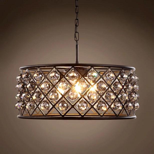Lulsgate 6-Light Chandelier Finish: Gray, Bulb Type: LED, Shade Color: Smoke
