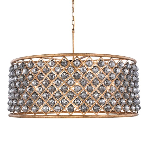 Lulsgate 10-Light Chandelier Finish: Gold, Bulb Type: Incandescent, Shade Color: Smoke