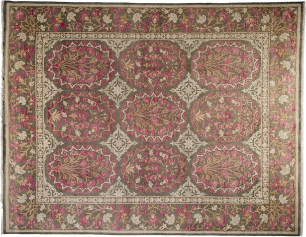 One-of-a-Kind Oushak Hand-Knotted Pink Area Rug