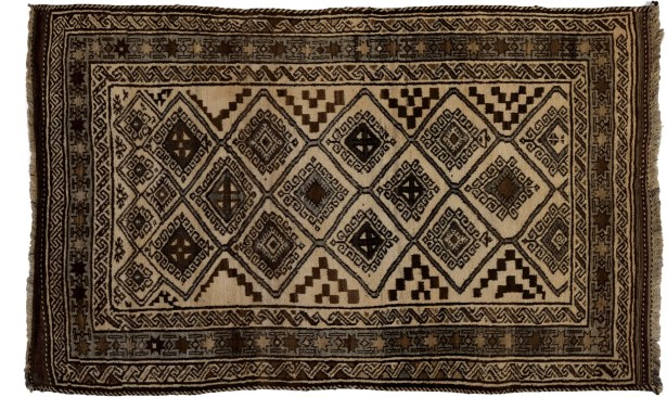 One-of-a-Kind Tribal Hand-Knotted Beige Area Rug