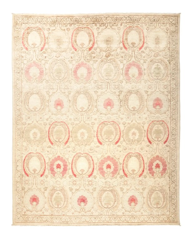 One-of-a-Kind Suzani Hand-Knotted Beige Area Rug Rug Size: 8'1