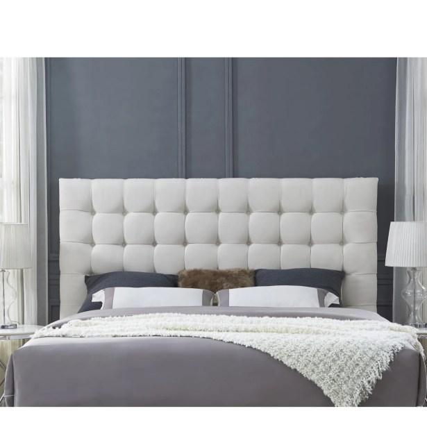 Randy Upholstered Panel Headboard Upholstery: Linen Beige, Size: Queen