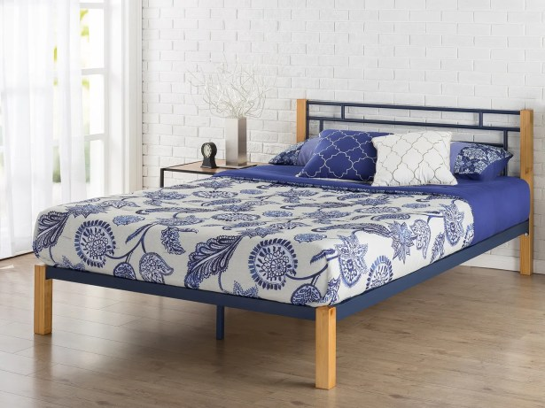 Mcguire Metal and Wood Platform Bed Size: King