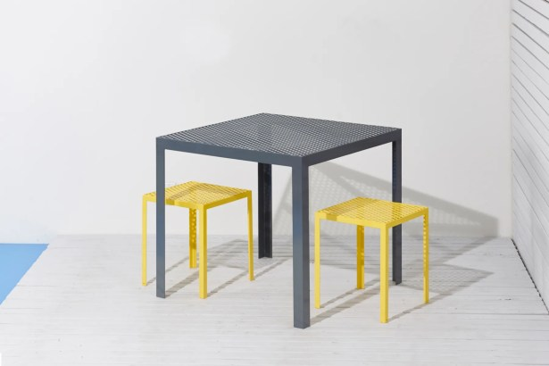 Howard Series Steel Dining Table Finish: Yellow