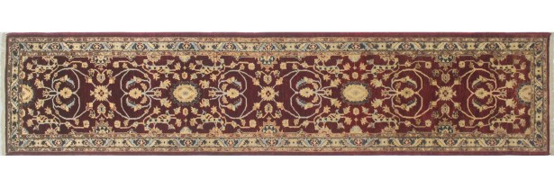 One-of-a-Kind Romona Hand-Knotted Oriental Red Area Rug