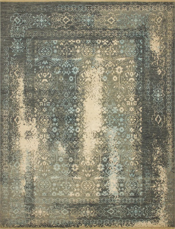 One-of-a-Kind Antionette Hand Knotted Oriental Wool Beige/Gray Area Rug