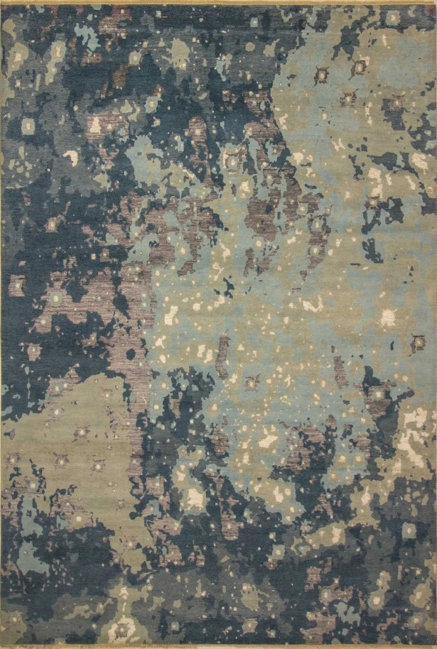 One-of-a-Kind Sandi Hand Knotted Wool Blue/Beige Area Rug