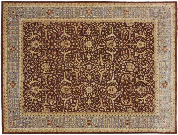 One-of-a-Kind Abarca Hand Knotted Wool Chocolate Area Rug
