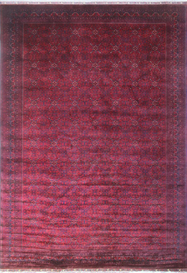 One-of-a-Kind Lloyd Awesta Hand-Knotted Wool Red Area Rug
