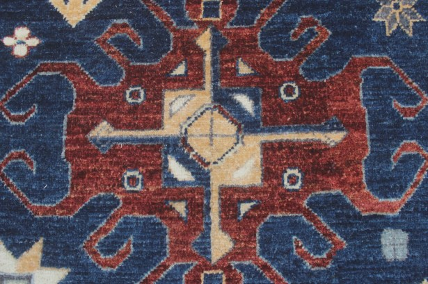 One-of-a-Kind Woodmoor Wais Hand-Knotted Wool Blue Area Rug