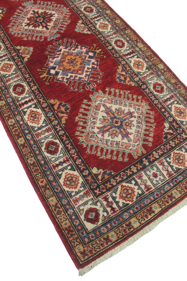 One-of-a-Kind Bronzewood Hand-Knotted Wool Red Area Rug
