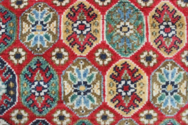 Bullard Kazak Hand Knotted Wool Red Area Rug