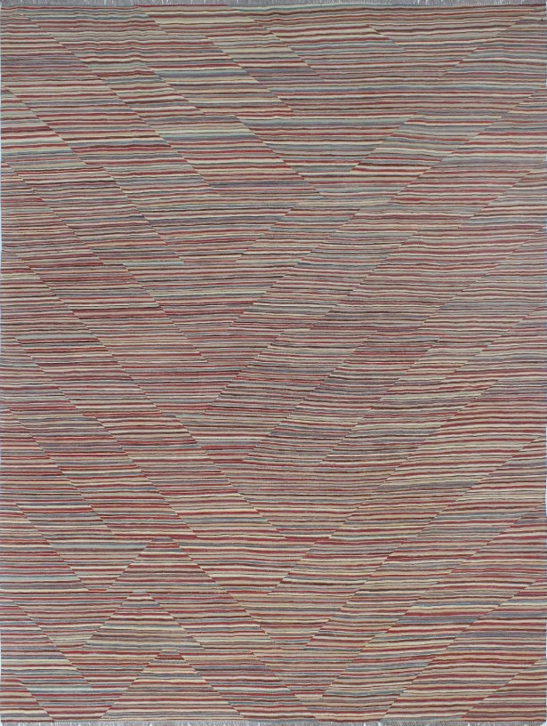 Ackworth Kilim Hand Woven Wool Red Area Rug