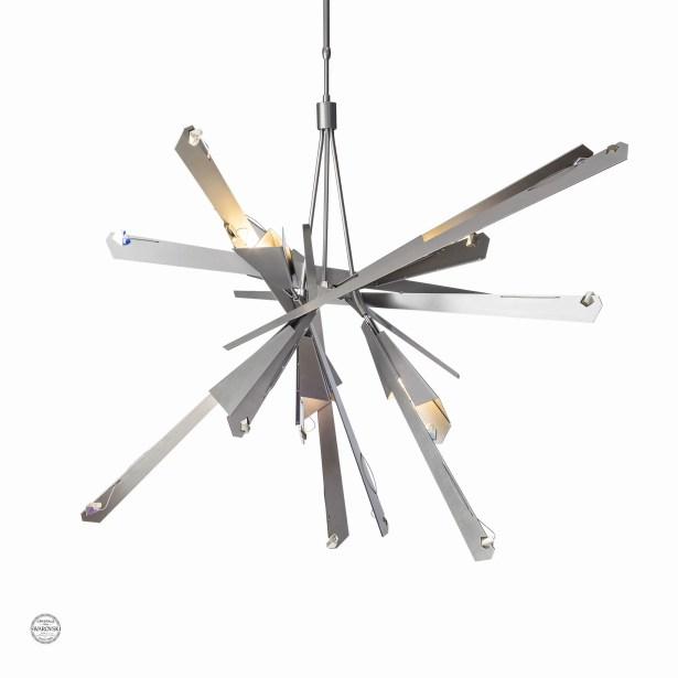 Pelton 8-Light Sputnik Chandelier Size: Long, Finish: Burnished Steel