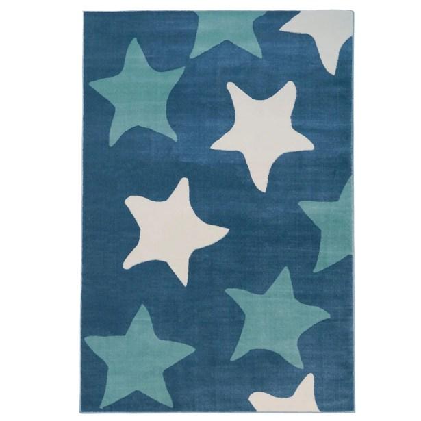 Elvis Star Blue Area Rug Rug Size: Rectangle 3'11