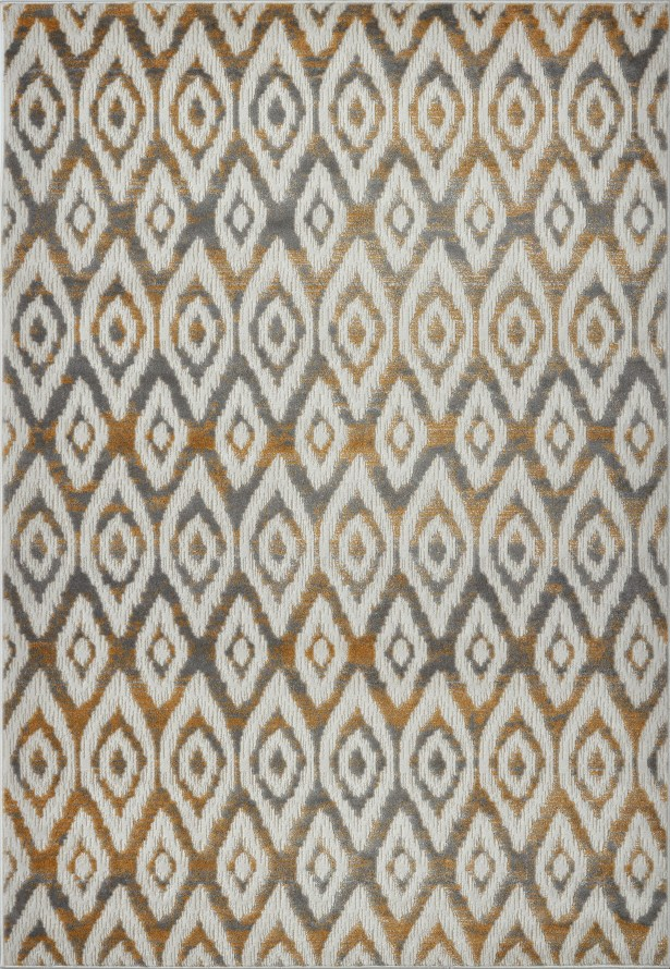 Azure White/Brown Area Rug Rug Size: 6'5
