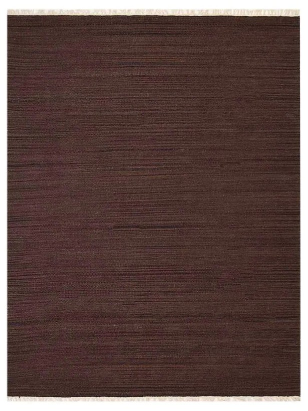 Cottesmore Hand-Woven Wool Dark Brown Area Rug Rug Size: Rectangle 4' x 6'
