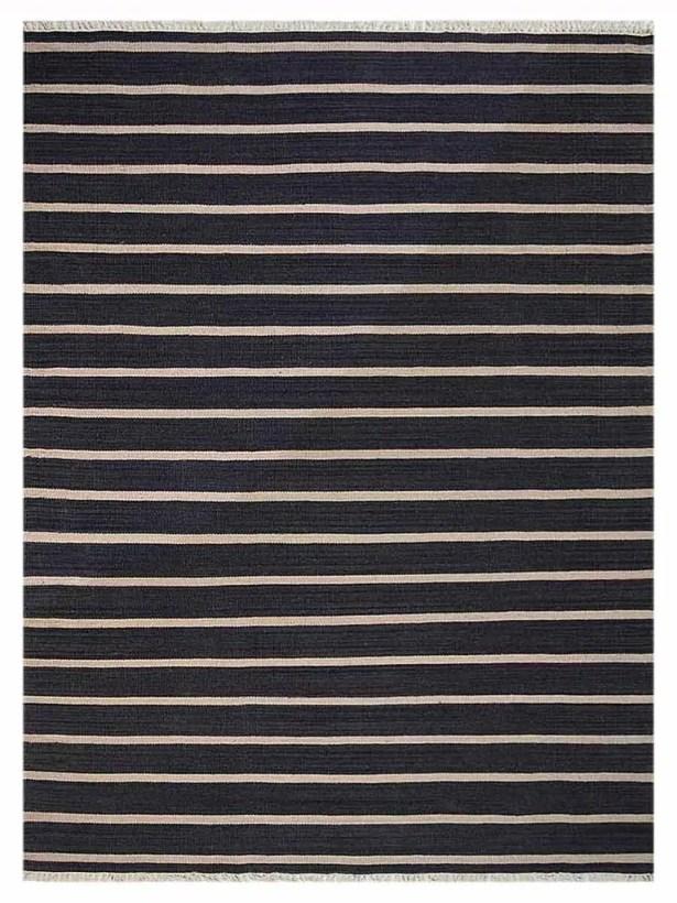 Reyes Hand-Woven Wool Black Area Rug Rug Size: Rectangle 6' x 9'
