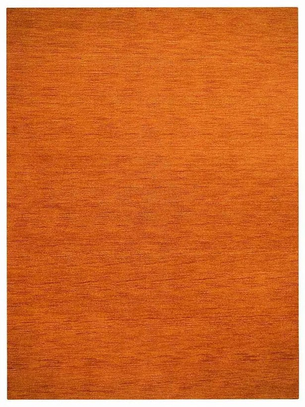 Ry Hand-Knotted Wool Orange Area Rug Rug Size: Rectangle 8' x 11'